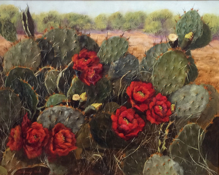 """Fire Blooms"" Prickly Pear Cactus"