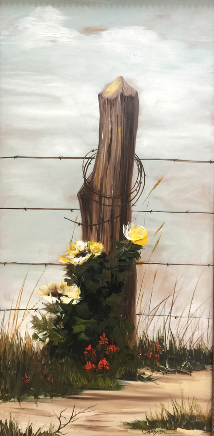 """Barbed Wire Blooms"""
