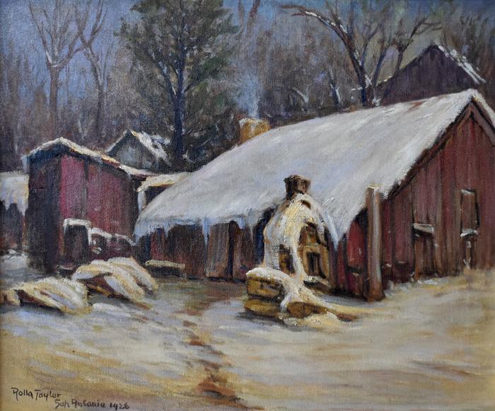 """San Antonio 1926"" Irish Flats in Snow"
