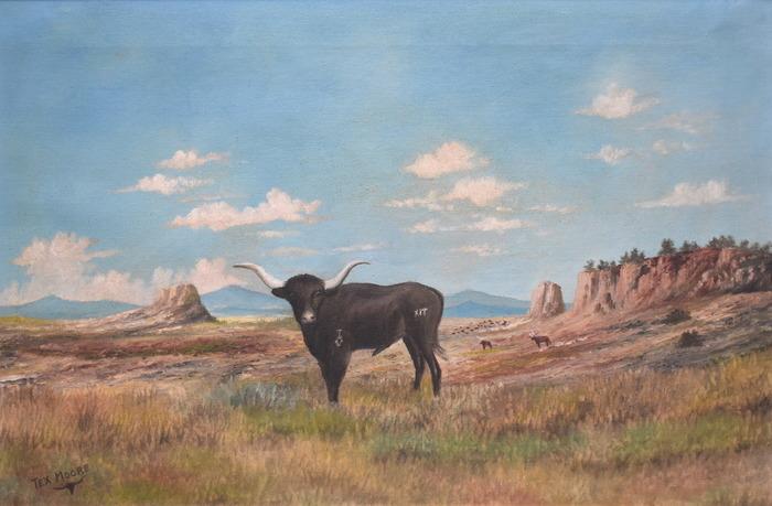 """""""Standing Proud"""" Texas Longhorn Western"""