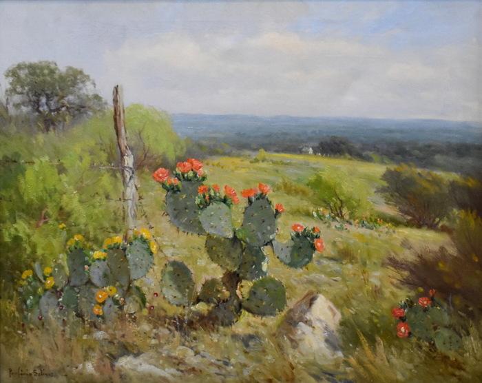 """Blooming Prickly Pear"" Cactus"