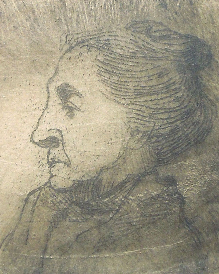 Unsigned but actual etching used for Bonner Book