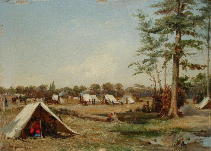 Cavalry Camp SC Halcomb Legion Mar. 1863