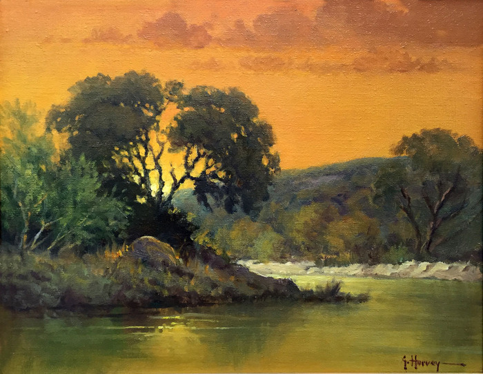 """Evening on the River"""