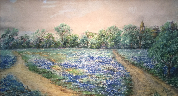 """Bluebonnets on Baylor Campus"""