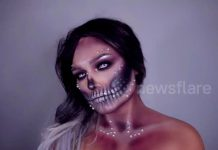 Woman Creates Incredible Halloween Makeup Looks
