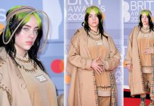 Billie Eilish's Burberry Plaid Manicure Matched Her BRIT Awards Outfit
