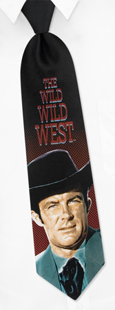 Jim West Tie by TV Land -  Black Silk