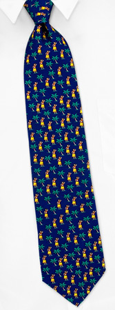 Novelty Ties - Hula Dancers By Alynn Novelty Navy Blue Silk Ties