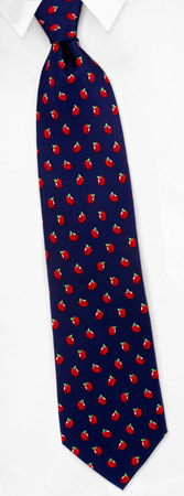 Novelty Ties - Apples By Alynn Novelty Navy Blue Silk Ties