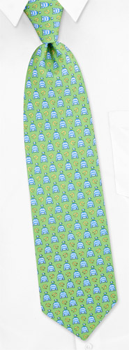 Novelty Hats - Jockey Silks By Alynn Novelty Lime Green Silk Ties