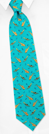 Novelty Ties - Horns By Alynn Novelty Teal Silk Ties
