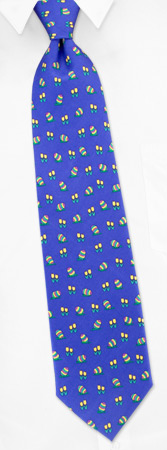 Novelty Ties - Happy Easter By Alynn Novelty Blue Silk Ties