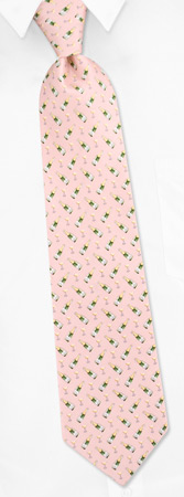 Novelty Ties - Champagne & Glasses By Alynn Novelty Pink Silk Ties