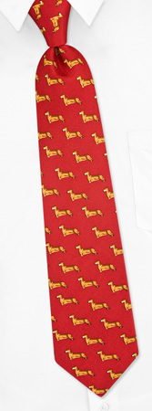 Boys Ties - Dachshund Profile By Alynn Dog Ties Red Silk Boys Ties