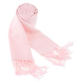 Pashmina Scarves - Solid Pashmina By Museum Artifacts Pink Viscose Pashmina