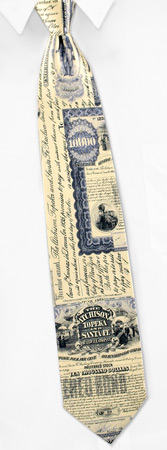 Railroad Ties - Railroad Topeka Stock By Museum Artifacts Cream Silk Ties