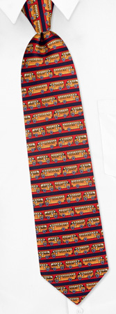 School Ties - School Buses By Museum Artifacts Black Silk Ties