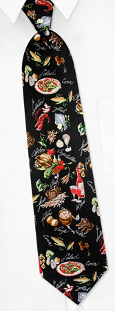 Black Tie Dinner - Dinner Foods And Wine By Museum Artifacts Black Silk Ties