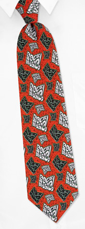 Rock Hard Tie by Roberto Celini - Red Polyester