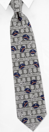 Law Enforcement Silver Polyester Tie