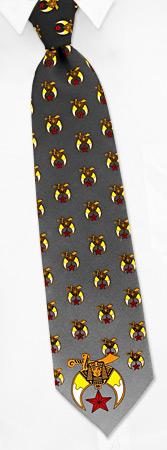 Shriners by Fun Ties black polyester ties