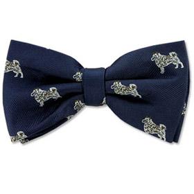 Cheap Ties - Norwegian Elkhound By Kay Nine Design Navy Blue Polyester Pretied Bowties