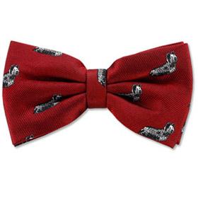 Cheap Ties - Skye Terrier By Kay Nine Design Burgundy Polyester Pretied Bowties