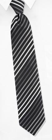 Narrow Ties - Narrow Stripe By BCBG Attitude Black Silk Ties
