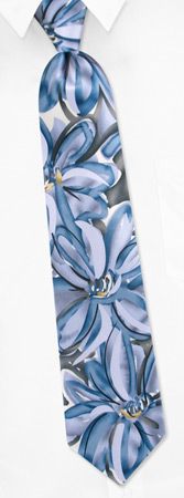 Jerry Garcia Ties - Lunch By Jerry Garcia Gray-blue Silk Ties