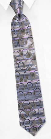 Jerry Garcia Ties - Happy Birthday By Jerry Garcia Charcoal Silk Ties