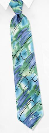 Garcia Ties - Aztec Objects By Jerry Garcia Green Silk Ties