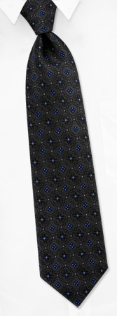 Tie Fashion - Fashion Trifold By Daniel De Fasson Dark Gray Silk Ties