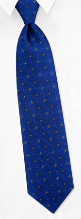 Tie Fashion - Fashion Trifold By Daniel De Fasson Blue Silk Ties