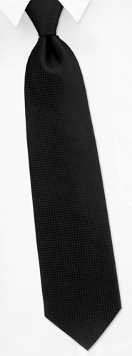 Black Tie - Revitalize By Principessa Black Silk Extra Long Ties