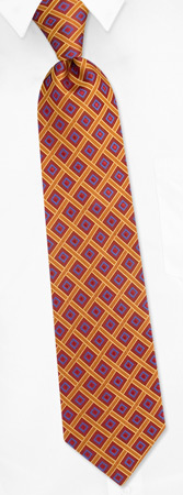 Geometric Diamond Tie by Principessa Regale - Burgundy Silk