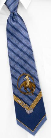 Resistol Hats - Rodeo Motif By Resistol Blue Silk Ties