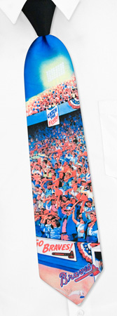 Black Tie - MLB Atlanta Braves City By MLB Black Polyester Ties
