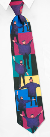 Help by The Beatles black polyester ties