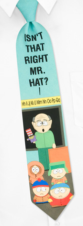 South Park Ties - Mr Garrison By South Park Green Polyester Ties