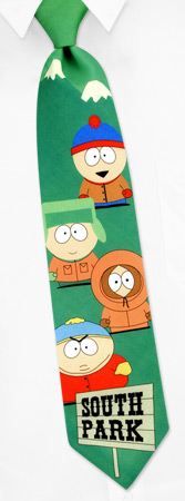 South Park Ties - The Boys By South Park Green Polyester Ties