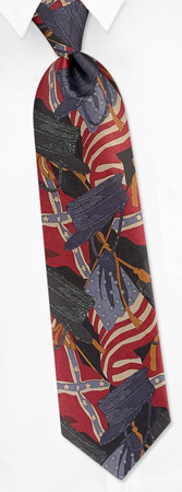 Civil War Hats - Civil War Hat And Flags By RM Style Multicolor Polyester Ties