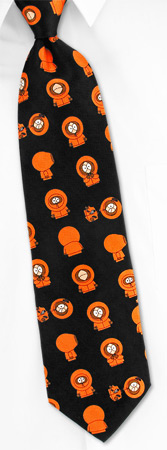 South Park Ties - Just Kenny Tossed By South Park Black Silk Ties