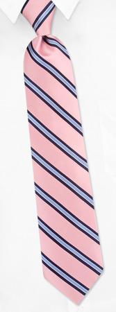 Pink Ties - Stripes By Tommy Hilfiger Pink Silk Ties