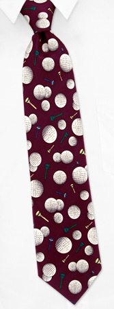 Hard Day at the Office Tie by Wild Ties - Burgundy Silk
