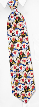 Pilgrims and Indians Tie by Wild Ties -  Multicolor Silk
