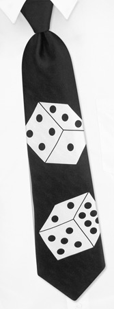 Lady Luck Tie by Wild Ties -  Black Silk