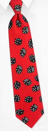 Falling Dice Tie by Wild Ties - Red Silk