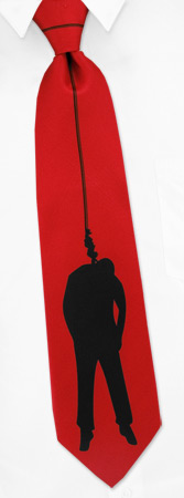 Hanging Tie by Wild Ties - Red Polyester