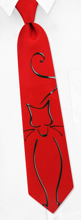 Kitty Tie by Wild Ties - Red Microfiber
